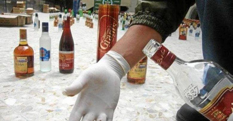 Cuidado con el licor adulterado en esta temporada decembrina. 1000 botellas incautadas