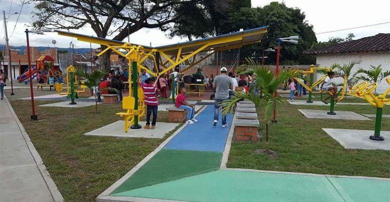 En pocos días Bugalagrande estrenará otro parque biosaludable y cancha múltiple
