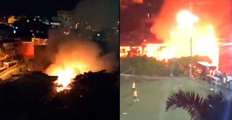 Cerca de diez viviendas afectadas por dos incendios en Pereira
