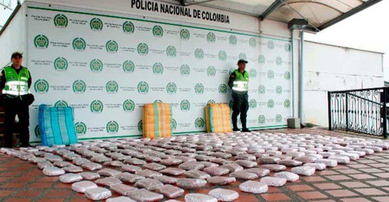 Cerca de 200 kilos de marihuana fueron incautados en la vía Cartago – Pereira