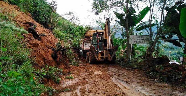 Vías afectadas por derrumbes en tres municipios de Risaralda ya están desbloqueadas