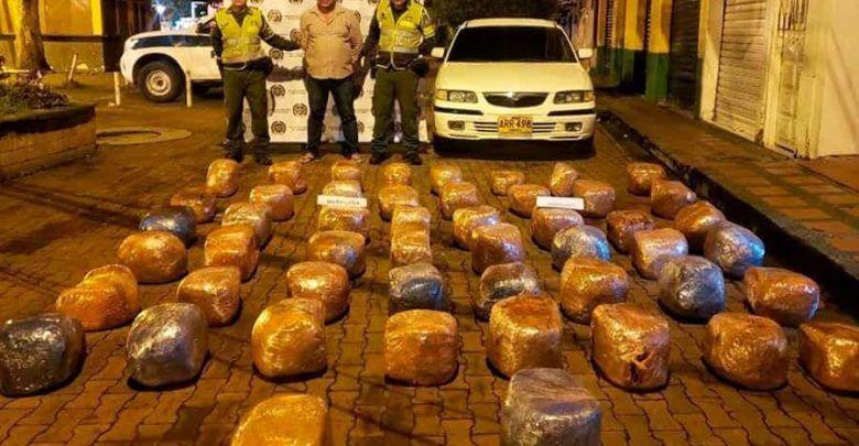 Asesor comercial capturado con más de 100 kilos de marihuana