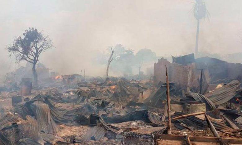 12 viviendas totalmente incineradas en Cali