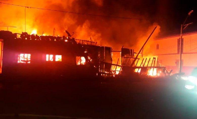 Incendio en corregimiento de Salamina, Caldas