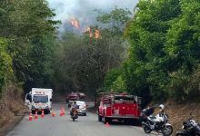 Photo of Incendio forestal en la vía Cartago – Alcalá