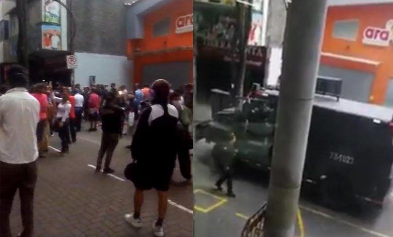 Disturbios frente a la Alcaldía de Pereira y Tiendas Ara