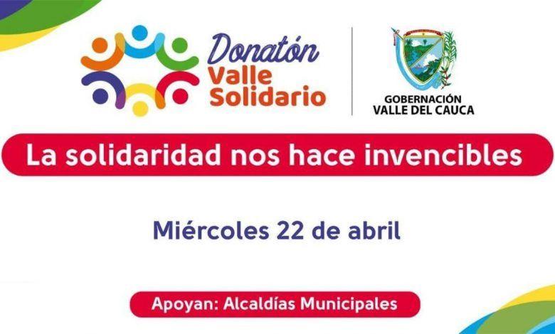 200 mil mercados, la meta en la gran Donatón 'Valle Solidario'