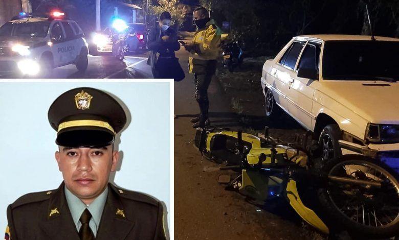 Patrullero de la policía falleció en accidente en la vereda San José