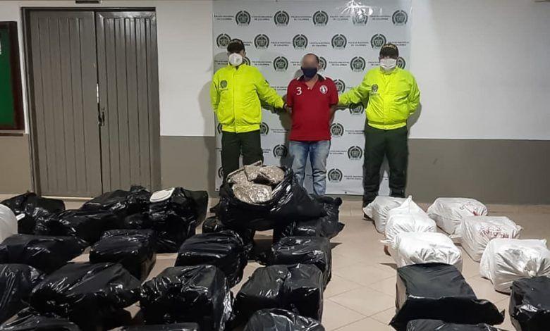 Capturan a 'Kiko' en La Virginia con 350 kilos de marihuana