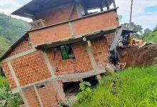 Vivienda de tres pisos se desplomó en Dosquebradas