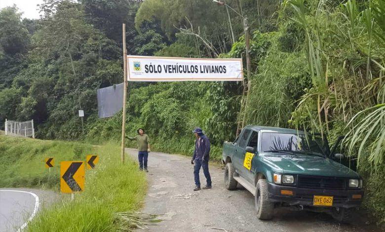 Restricción a vehículos pesados en el puente de la Vereda Aguazul en Dosquebradas