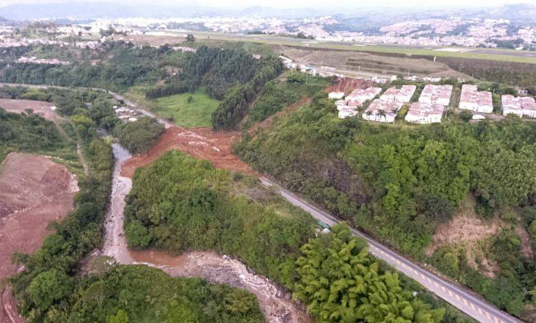 En total fueron 34 casas que colapsaron tras deslizamiento
