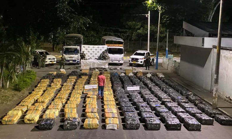 Más de 2 toneladas de marihuana incautadas en Zarzal