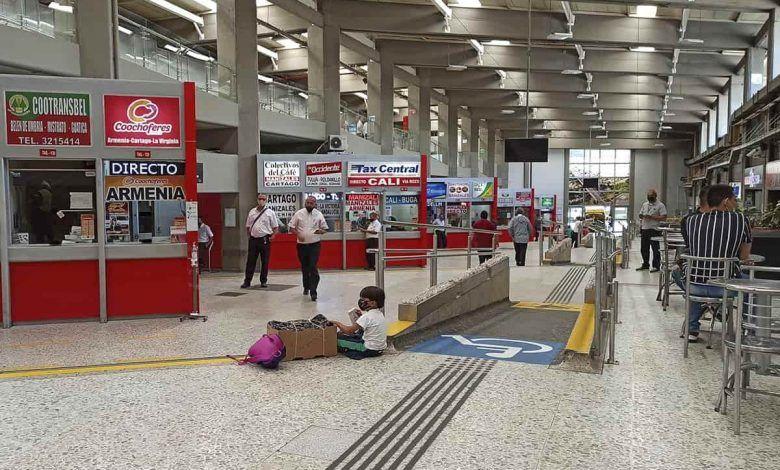 Por bloqueos, el Terminal de Transportes de Pereira está operando de forma intermitente