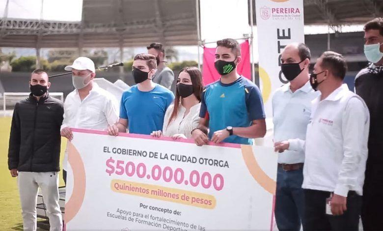 Alcalde de Pereira destinará $500 millones para el fomento al deporte