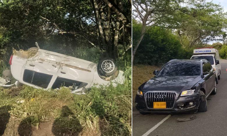 Dos automóviles chocaron en la vía Panamericana
