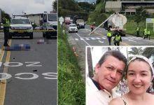 Trágico accidente en la vía Condina de Pereira acaba con la vida de una pareja