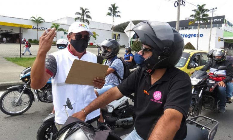 """Avanza campaña """"Como conductor y peatón cuido la vida"""" en Dosquebradas"""