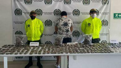 Capturado en Cartago con cerca de 2 mil dosis de bazuco y marihuana