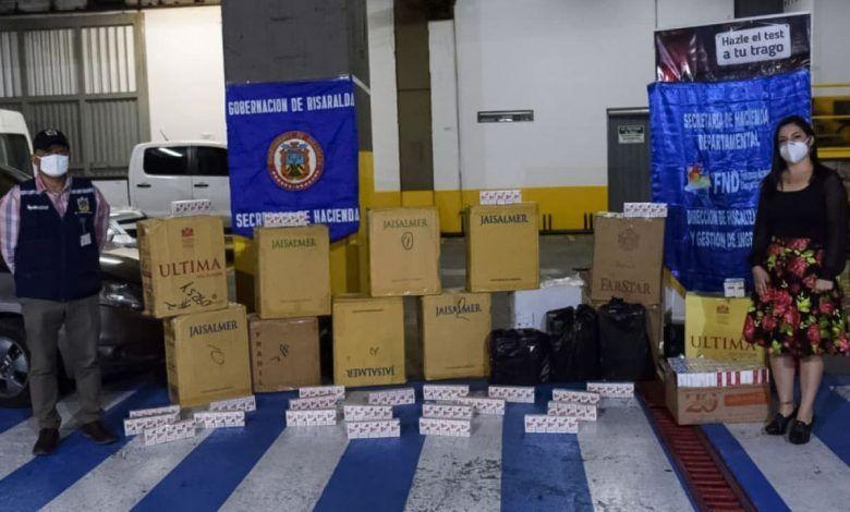 Cargamento de cigarrillos ilegales fue incautado en Risaralda