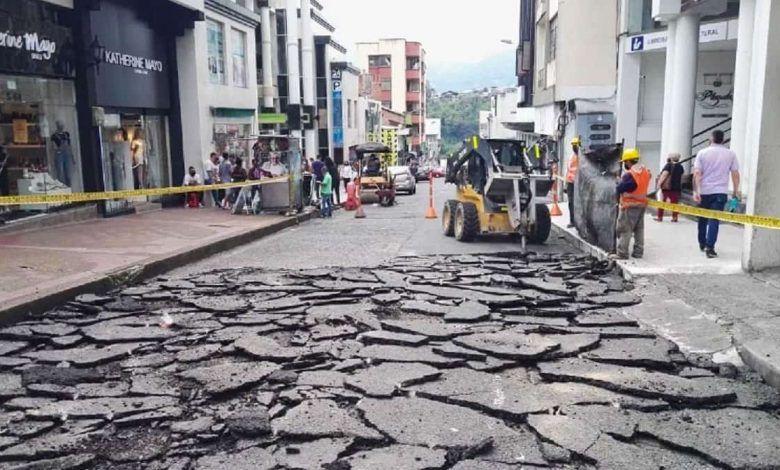 Inician obras de mejoramiento vial en la calle 19 del centro de Pereira