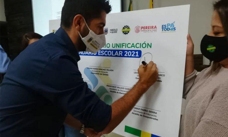Oficializan la unificación del calendario escolar para 2021 en el Eje Cafetero