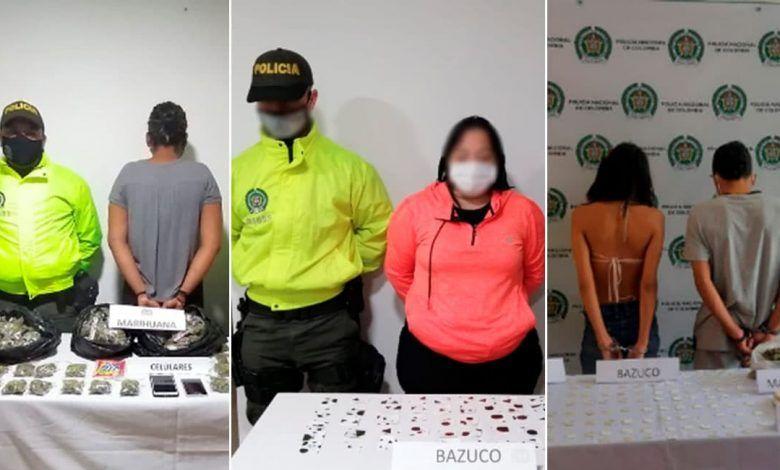 Cuatro capturados por tráfico de drogas en tres municipios de Risaralda