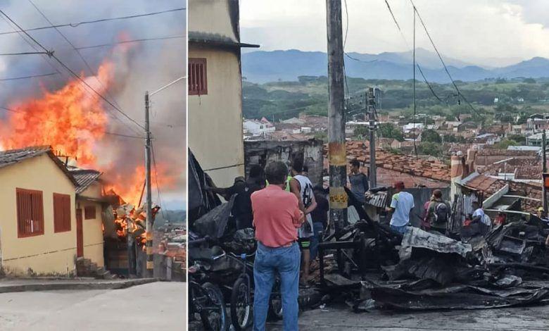 Entregan primeras ayudas a damnificados del incendio en el barrio Bellavista de Cartago