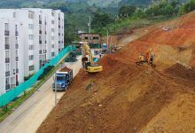 Avanza intervención de talud en la urbanización Los Juncos de Dosquebradas