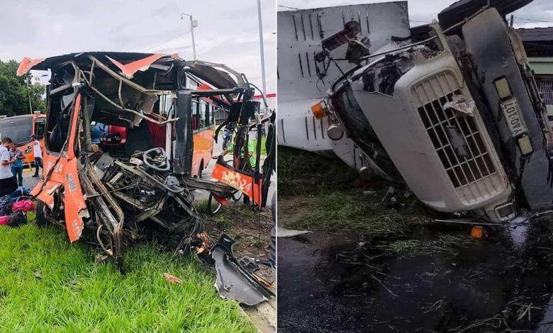 14 personas lesionadas en grave accidente de tránsito en La Virginia