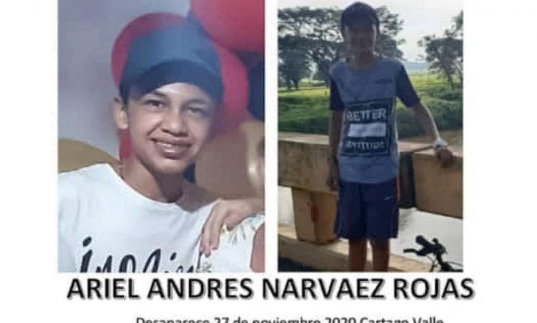 Buscan a joven de 15 años desaparecido en Cartago