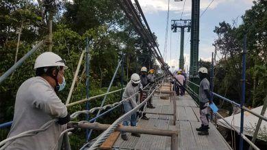 Inició empalme del cable portador tractor del Megacable de Pereira
