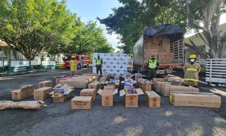 Incautan diez toneladas de pólvora en Cartago