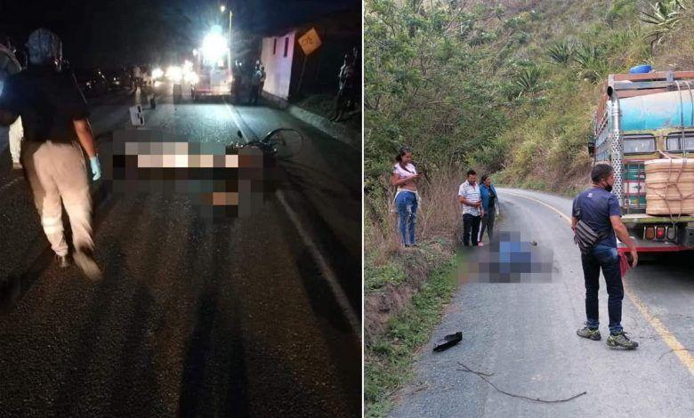 Dos personas fallecidas en accidentes en el norte del Valle