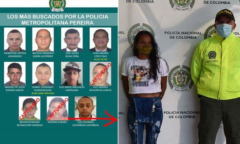 En Pereira fue capturada  una de las mujeres más buscadas quien tiene circular azul de interpol
