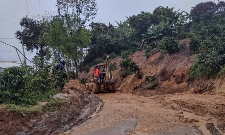 Invierno genera afectaciones en vías de diez municipios de Caldas