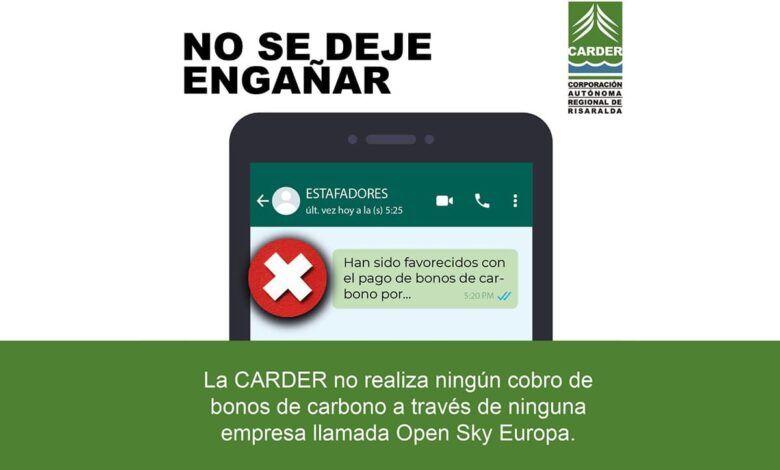 ¡Alerta! La CARDER no tiene ningún convenio con la empresa Open Sky Europa