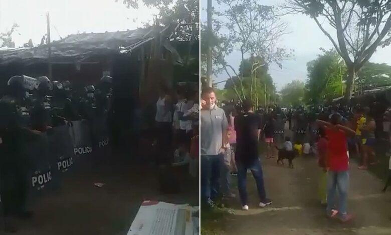 Desalojaron más de 250 personas en Puerto Caldas