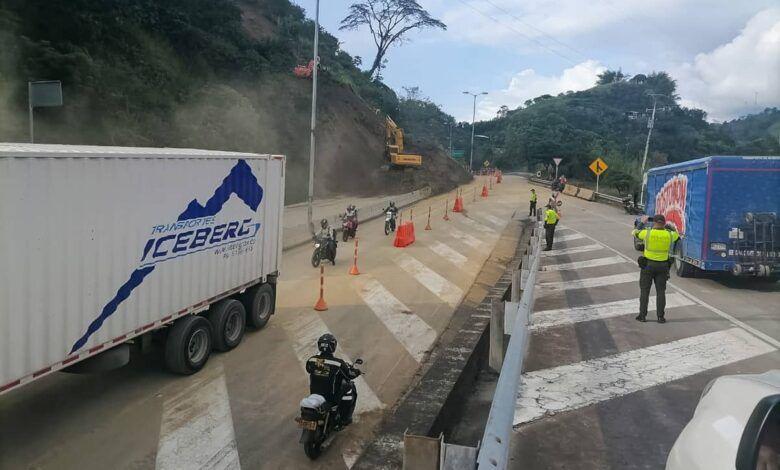 Autopistas del Café habilitó uno de los carriles en la vía Manizales-Chinchiná