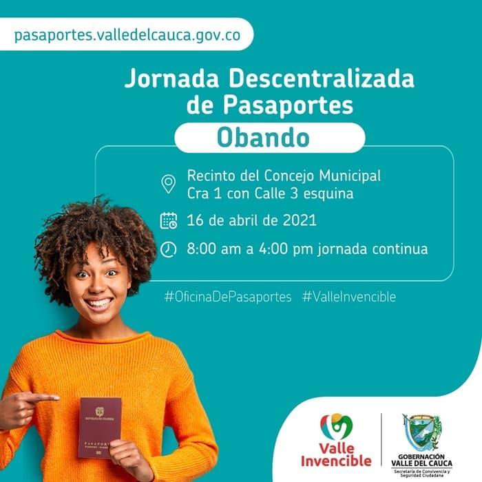 Pasaporte Obando Valle
