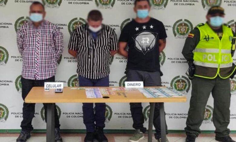 Capturaron en Pereira a tres supuestos funcionarios de la Sijín por hurto