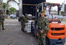 En 7 camiones del Ejército, transportaron 64 toneladas de Bienestarina represadas en Cartago