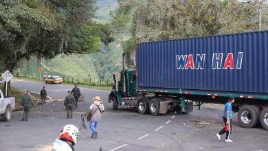 Levantaron el bloqueo sobre Troncal de Occidente en la entrada a Anserma Caldas