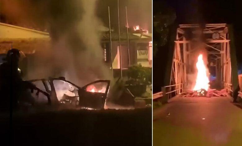 Disturbios en Cartago y en  límites con Pereira y Alcalá