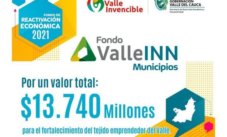 Amplían plazo para inscripción a convocatoria Valle INN Municipios 2021