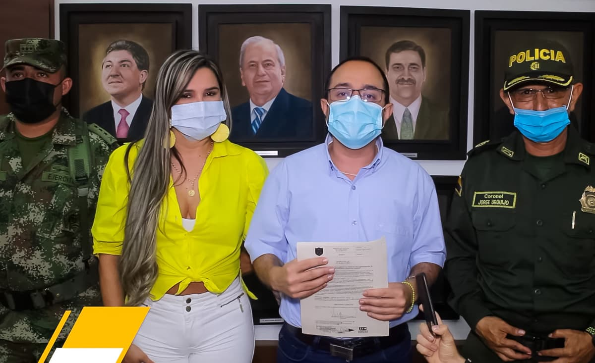Alcalde de Cartago y Alcaldesa de Alcalá
