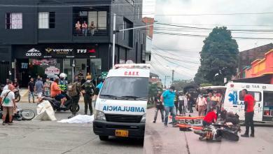 Accidente en la cra 7 con calle 15 de Cartago